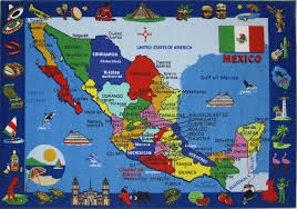 Fun Rugs For Kids Map Of Mexico Rugs Plus