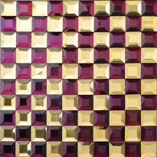 Mirrored Bathroom Wall Tiles - mosaic tile kitchen backsplash purple u0026 gold mirror tiles diamond