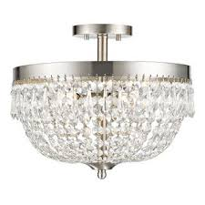 Crystal Ceiling Mount Light Fixture by Crystal 3 Light Antique Bronze Flush Mount Chandelier