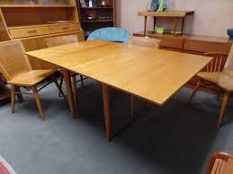 Modern Drop Leaf Dining Table Mid Century Modern Solid Birch Drop Leaf Dining Table With Two