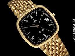 gold bracelet mens watches images Omega deville midsize mens ultra thin dress watch with bracelet jpg