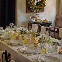 dining table arrangement table decoration using flower top table arrangement