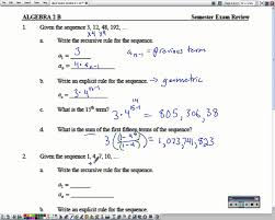algebra 2 semester 2 exam review 1 4 youtube