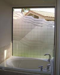 SQUARES  WAVES Bathroom Windows Frosted Glass Designs Privacy - Bathroom glass designs