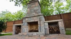 diy outdoor fremont fireplace kit makes hardscaping simple and fast