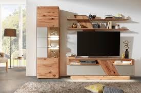 Wohnzimmerschrank Mit Bar Wohnwand In Buche Weiß Von Valnatura Wohnwände Pinterest