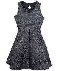 rare editions embellished metallic brocade dress big girls 7 16