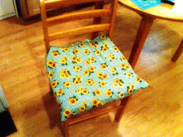 decor engaging kitchen interior decor with outstanding kitchen awesome small plaid green with sunflower printed pattern kitchen chair cushions for natural wooden dining chair