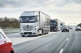 mercedes commercial trucks autonomous mercedes actros trucks travel through europe