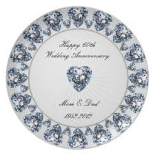 60th wedding anniversary plate 60th wedding anniversary plates zazzle co uk