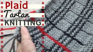 tartan or plaid knitting youtube