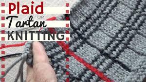 tartan or plaid knitting youtube