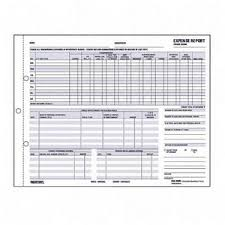 Detailed Expense Report Template by Carbonless Expense Report Carbonless 2 Part Expense Report