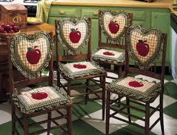 Apple Kitchen Decor Chair Seat & Back Cushions 8 PC Set
