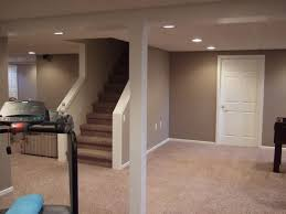 Basement Refinishing Cost by Interior Gym Equipment And Carpet Flooring With Staircase And