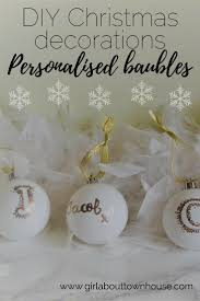 personalised bauble christmas crafts week personalised