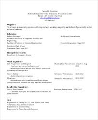 Sample Resume For Internship In Computer Science by Referee Resume Template 7 Free Word Pdf Document Downloads