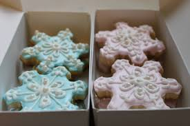 snowflake and christmas themed sugar cookies the little spork