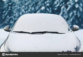 frozen car covered snow winter front window windshi