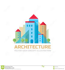 architecture vector sign concept illustration in flat style