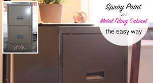 painting metal file cabinets how to spray paint a metal filing cabinet this bold home