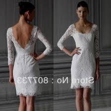 short lace wedding dress with long sleeves 2016 2017 b2b fashion