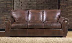 Top Leather Sofas by Top Grain Leather U0026 Feather Sofa The Dump America U0027s Furniture