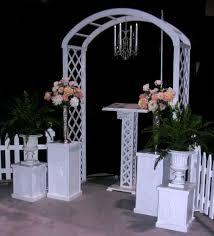 wedding arch rental rent wedding arch classic white trellis arch rental chair
