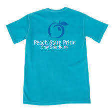 Georgia Flag State Short Sleeve Tees U2013 Peach State Pride