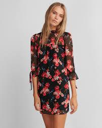 shift dress floral chiffon shift dress express