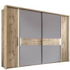 Schlafzimmer Set Mit Led Beleuchtung Schlafzimmer Nizza Set Incl Beleuchtung Wildeiche Glas Basaltgrau