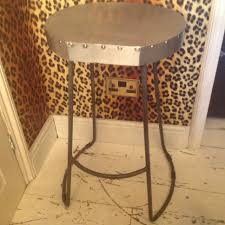 Zinc Top Bar Table Vintage Style Lab Stools Industrial Zinc Top Bar Stool