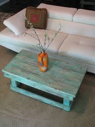 Distressed Coffee Tables by Rustic Distressed Coffee Table With Aqua Color Pop Distressed Finish
