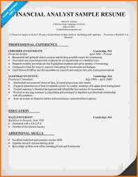 Resume Examples Financial Analyst by 9 Financial Analyst Resume Samples Financial Statement Form