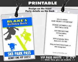 xbox video vip pass birthday party invitation printable