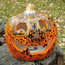halloween decor light up pumpkin jack o lantern day of the dead