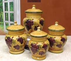 tuscan kitchen canisters grape kitchen items reviews description tuscany grapes 4pc