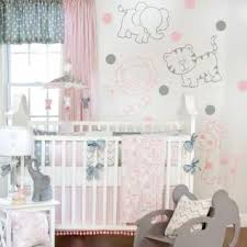 Circus Crib Bedding Pink Gray Baby Bedding 5p Pink Grey Blue Circus Animal Polka