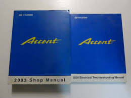 2003 hyundai accent service shop repair manual set w ewd brand new