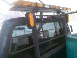 headache rack with light bar full size lightbar mounting to a protech headach rack plowsite