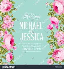 Discover Card Invitation Floral Invitation Card Invitation Card Template Stock Vector