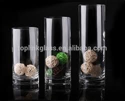 Glass Vase Cylinder Cylinder Glass Vase Tealight Holder Cylinder Floating Candle Vase