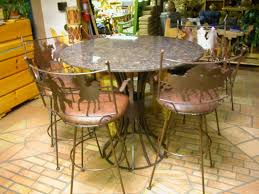 Western Dining Room Tables by Create Wild West Feel With 3 Western Bar Stools