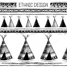 ethnic seamless pattern in native style tribal vector seamless