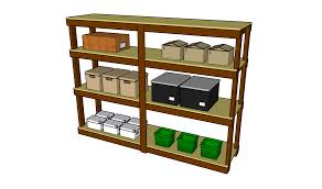 Simple Wood Storage Shelf Plans by Garage Shelves Plans Myoutdoorplans Free Woodworking Plans And
