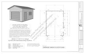 Home Construction Plans G443 14 U0027 X 20 U0027 X 10 U0027 Garage Plans Blueprints Downloadable