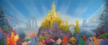 Castle Backdrop Little Mermaid Underwater Castle Backdrop Grosh Backdrops And