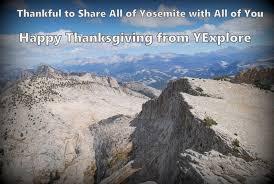 happy thanksgiving from yexplore yosemite national park tours