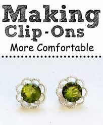 how to make your own clip on earrings clip on earrings more comfortable bit square