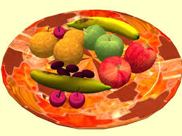 Bowl Of Fruits Second Life Marketplace Bowl Of Fruit In A Vibrant Moroccan